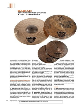 """""""Sabian 23"""""""" Limited Edition Override & Vault Cymbal News"""""""
