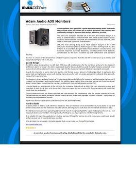 Adam Audio A3X Monitors