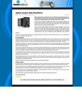 Adam Audio A3X Monitors