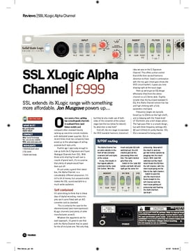 SSL XLogic Alpha Channel