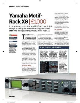 Yamaha MotifRack XS