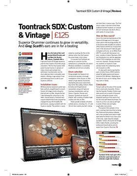 Toontrack SDX: Custom and Vintage