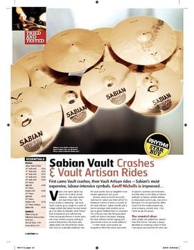 Sabian Vault Crashes and Vault Artisan Rides