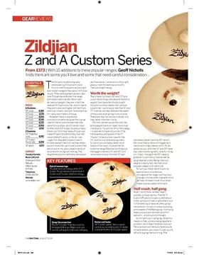 Zildjian Z and A Custom Series