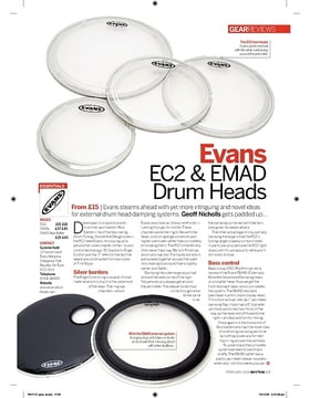 Evans EC2 and EMAD Drum Heads
