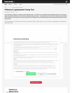 Millenium Laptopstand Clamp