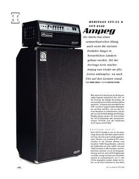 Ampeg Heritage SVT-CL & SVT-810E, Bass-Anlage