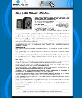 Adam Audio A8X Active Monitors