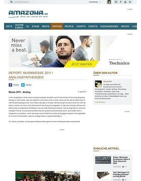 Report: Musikmesse 2011 / Analogsynthesizer