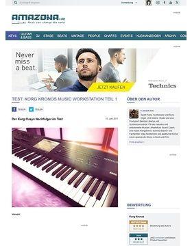 Test: Korg Kronos Music Workstation Teil 1