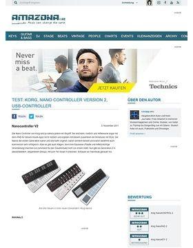Test: Korg, Nano Controller Version 2, USB-Controller