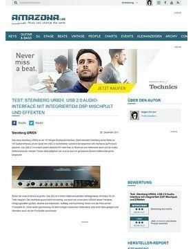 Test: Steinberg UR824, USB 2.0 Audio-Interface mit integriertem DSP Mischpult und Effekten