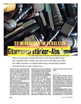 Gitarrenverstärker-Abnahme: 22 Mikrofone im Vergleich!