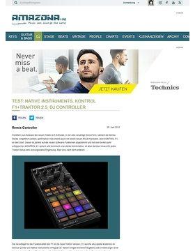 Test: Native Instruments, KONTROL F1+Traktor 2.5, DJ Controller