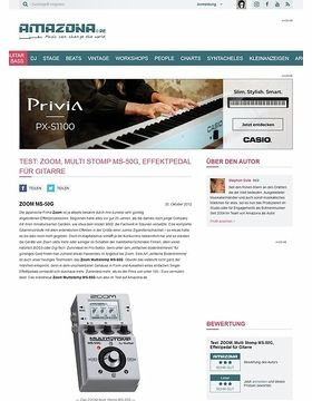 Test: ZOOM, Multi Stomp MS-50G, Effektpedal für Gitarre