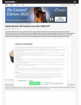 Harley Benton HB Custom Line CLG-414CE NT