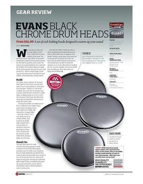 EVANS BLACK CHROME DRUM HEADS