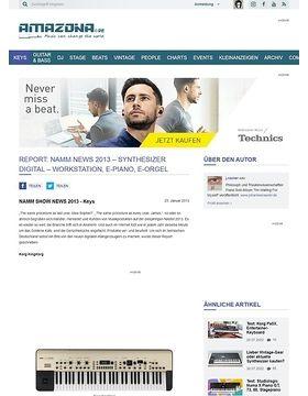 Report: Namm News 2013 - Synthesizer Digital - Workstation, E-Piano, E-Orgel