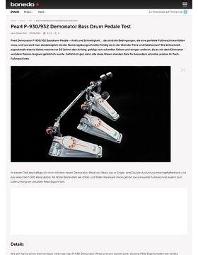 Pearl Demonator Drumpedale Test