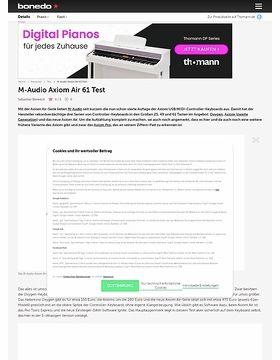 M-Audio Axiom Air 61 Test