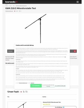 K&M 210/2 Mikrofonstativ Test
