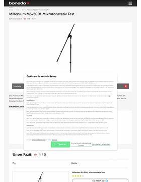 Millenium MS-2001 Mikrofonstativ Test