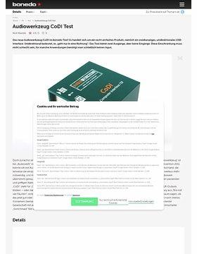 Audiowerkzeug CoDI Test