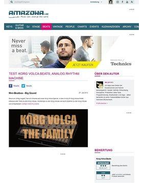 Test: Korg Volca Beats, Analog Rhythm Machine