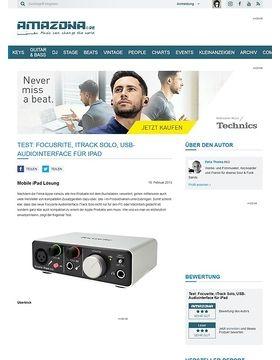 Test: Focusrite, iTrack Solo, USB-Audiointerface für iPad