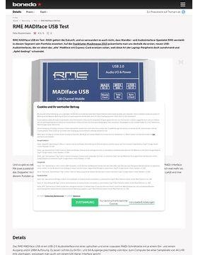 RME MADIface USB Test