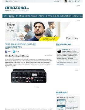 Test: Roland Studio Capture, Audiointerface