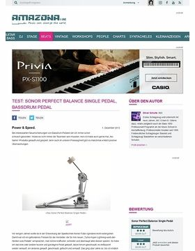 Test: Sonor Perfect Balance Single Pedal, Bassdrum Pedal