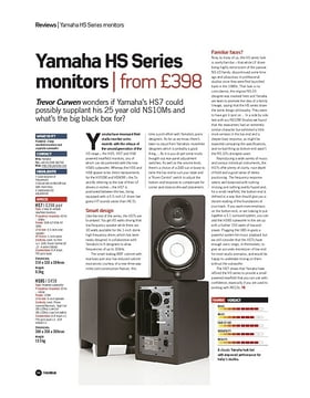 Yamaha HS Series monitors