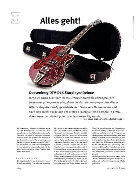 Duesenberg DTV-DLX Starplayer Deluxe, E-Gitarre