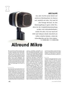 AKG D12VR, Allround-Mikrofon