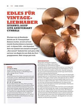 Istanbul Agop 30th Anniversary Cymbals