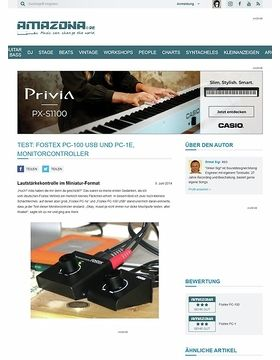 Test: Fostex PC-100 USB und  PC-1e, Monitorcontroller