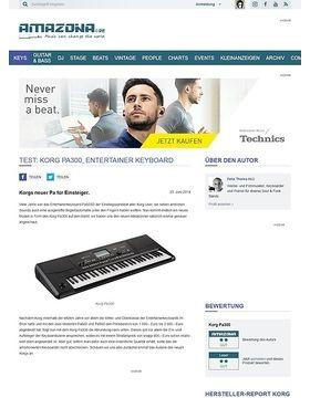 Test: Korg Pa300, Entertainer Keyboard