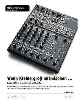 Mackie 802VLZ4 - Kompakter Live- und Sub-Mixer