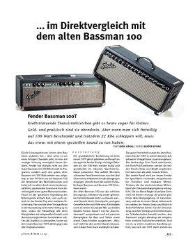 Fender  Bassman 100T, Bass-Top