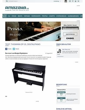 Test: Thomann DP-33, Digitalpiano