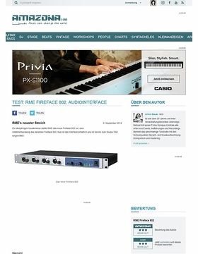 Test: RME Fireface 802, Audiointerface