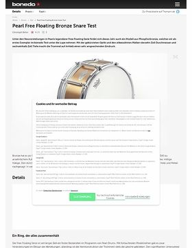 Pearl Free Floating Bronze Snare