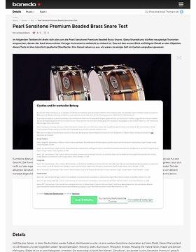 Pearl Sensitone Premium Beaded Brass Snare