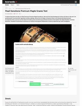 Pearl Sensitone Premium Maple Snares