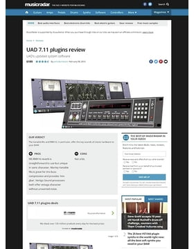 UAD 7.11 plugins