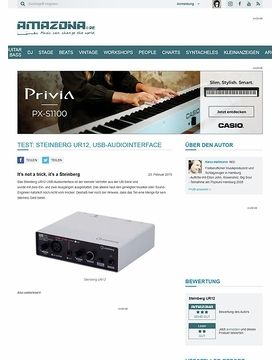 Test: Steinberg UR12, USB-Audiointerface