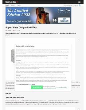 Rupert Neve Designs RNDI Test