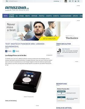 Test: Miditech Pianobox Mini, USB/MIDI-Soundmodul