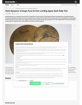 Meinl Byzance Vintage Pure Hi-Hat und Big Apple Dark Ride